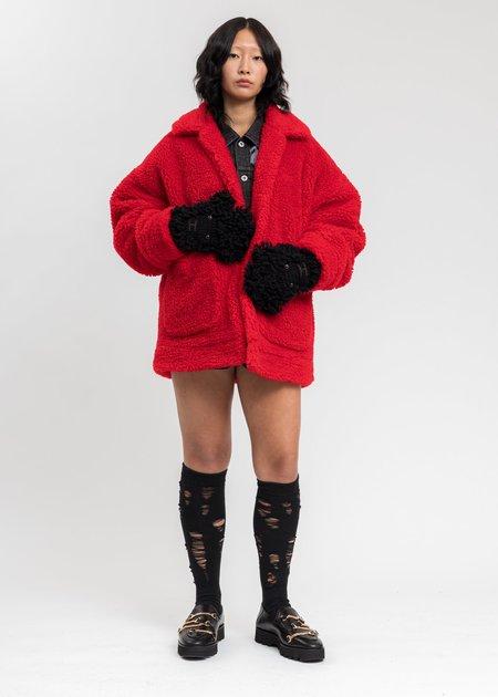 Unisex Doublet Sheep Face Gloves - Black