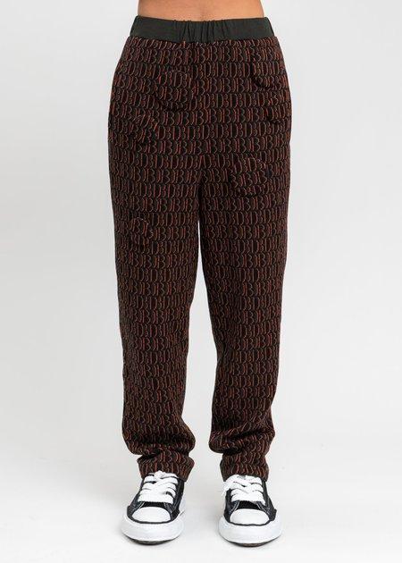 Doublet Monogram JQ Knit Pants - Khaki