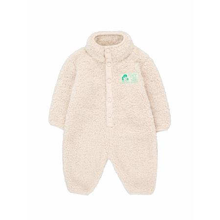 [Pre - Loved] tinycottons polar sherpa baby onepiece - light cream