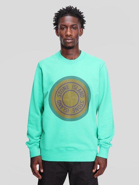 Stone Island Brushed Cotton Fleece Sweatshirts - green