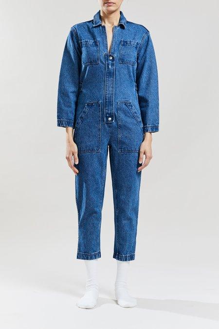 Still Here New York Selma Jumpsuit - Farm Blue
