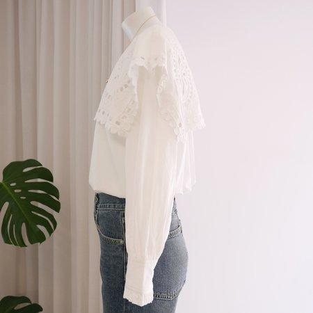 Sea NY Santos Eyelet Cotton Blouse - White