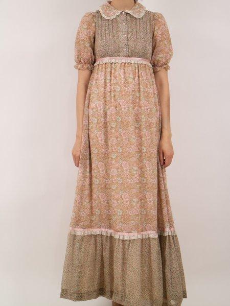 Vintage Erin Templeton phase 2 empire waist gunne sax style dress - muted pinks