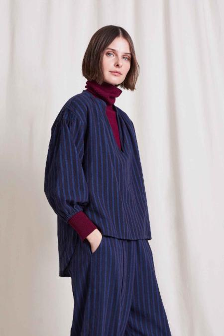 Apiece Apart Marit Winter Stripes Top - Multi Stripe