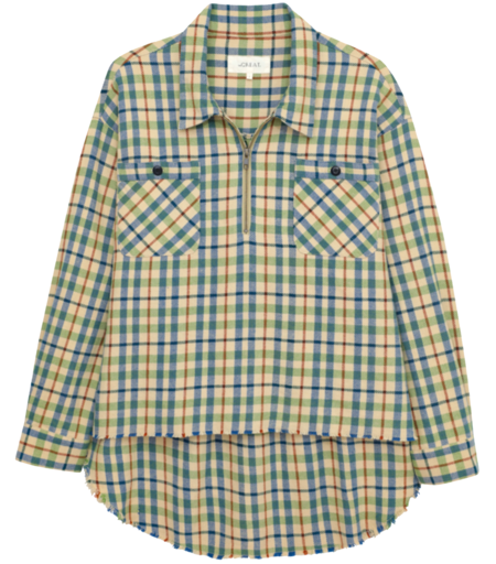 The Great. The Mountaineer Pullover - Piney Woods Plaid