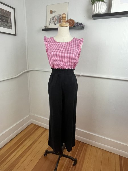 [pre-loved] Kinly Knit Paperbag Trouser - Black