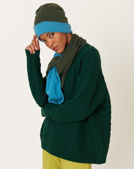 Demy Lee Alyssa Scarf - Dark Pine Green/Sea Blue