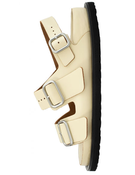 JIL SANDER x Birkenstock leather sandals - beige