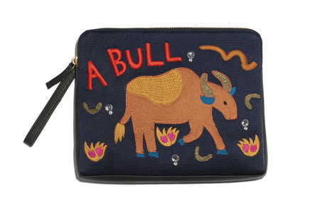 Lizzie Fortunato Safari Clutch in Bull