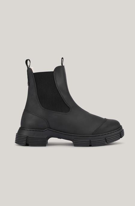 Ganni Fur City Boot - Black