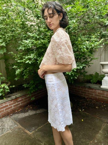 KC Vintage Chanel Lace Skirt - white
