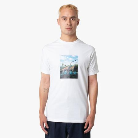 Sci-Fi Fantasy Dino T-shirt - White