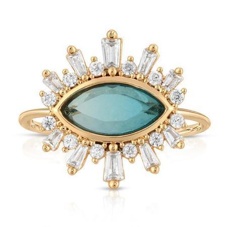 Elizabeth Stone Athena Ring - Blue Tourmaline