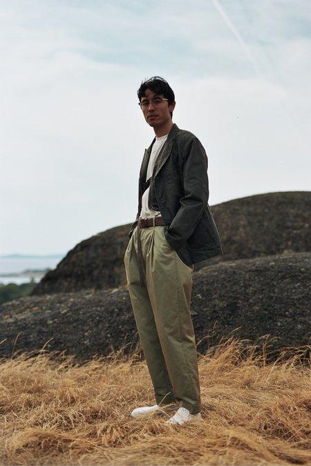 Engineered Garments Coated Twill Bedford Jacket - Dark Olive