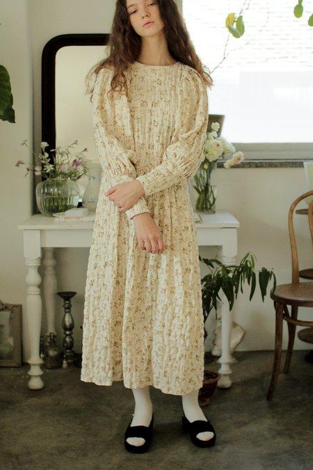 Kids Tambere Cora Kid's Dress - Beige Flowers