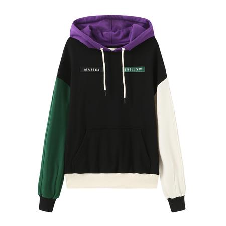 MATTER MATTERS Colour Block Oversized Hoodie sweater - multi