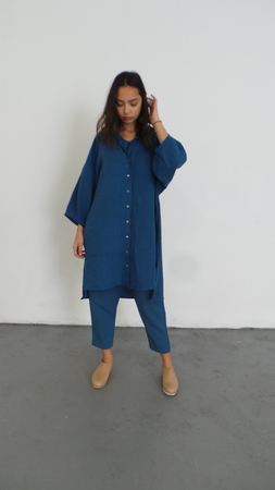 ILANA KOHN STEVEN DRESS - INDIGO