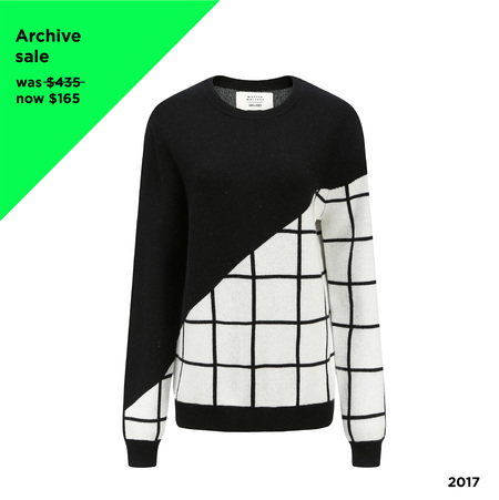 Matter Matters Grid Cashmere Sweater - Black