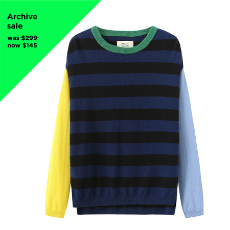 MATTER MATTERS Colour Block Stripes Wool Cashmere Blend Sweater - multi