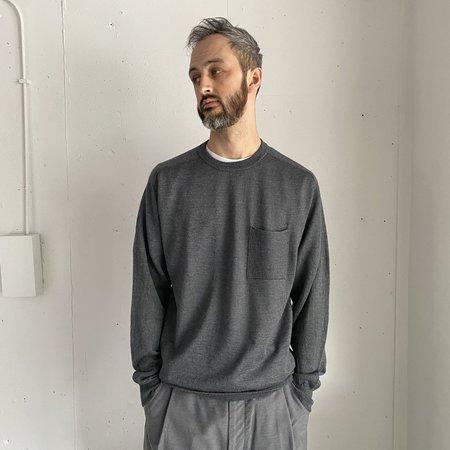 Still By Hand Alpaca Mix Pocket Knit sweater - Blue Grey