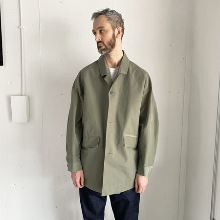 Still By Hand C/N Cocoon Coat - Olive