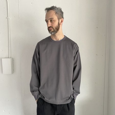 Still By Hand High Count Long Sleeve - Slate Gray