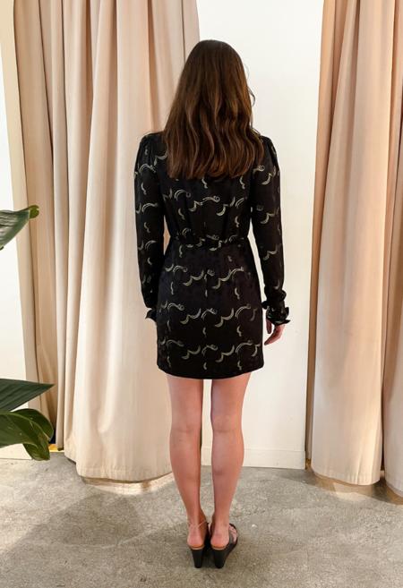 Saloni Metallic Galaxy Stamped Dress