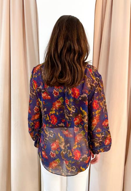 Saloni Silk Georgette Top - Floral Printed