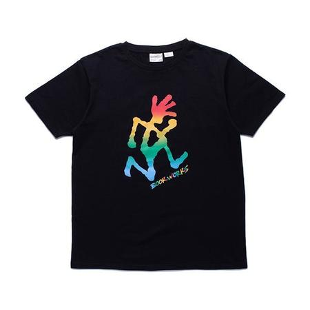 Gramicci Book Works Running Man Tshirt - Black