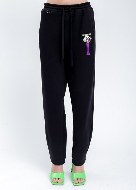Doublet Puppet Embroidery Sweat Pants - Black