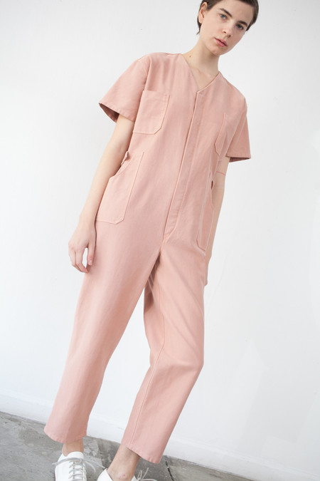 Caron Callahan Christine Jumpsuit in Peach