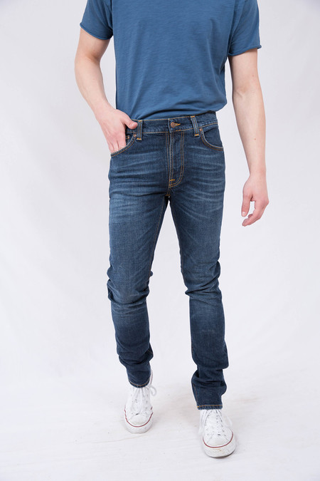 Nudie Lean Dean Dark Worn Navy