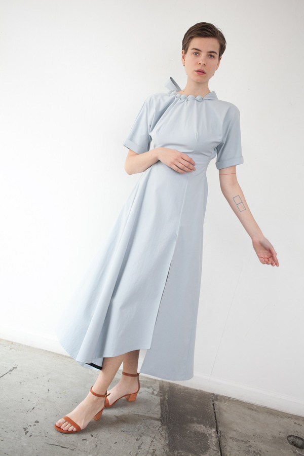 Yulia Kondranina Maxi Dress in Light Grey