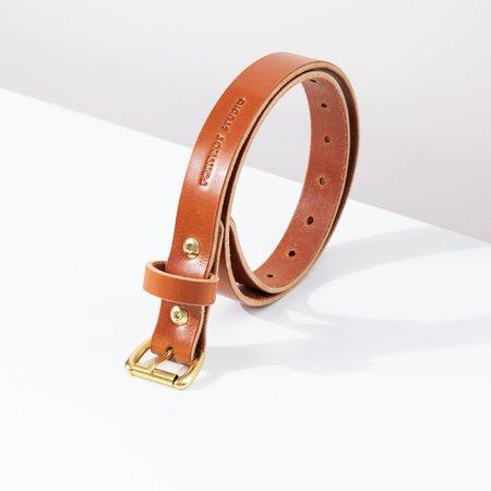 Foxtrot Studio Slim Belt - Cognac
