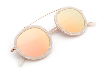 Krewe du Optic Conti Sunglasses in Matte Opal + Rose Gold