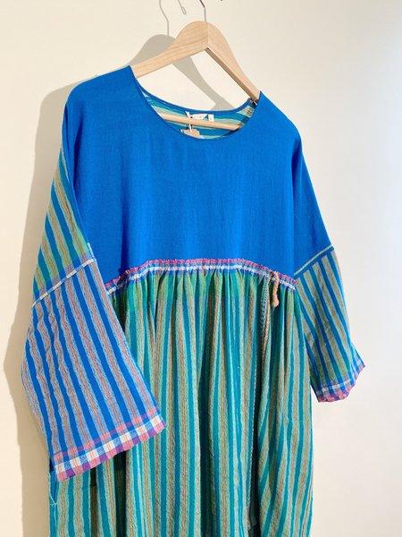 Injiri Shekhawati 04 Wool Dress - Cerulean