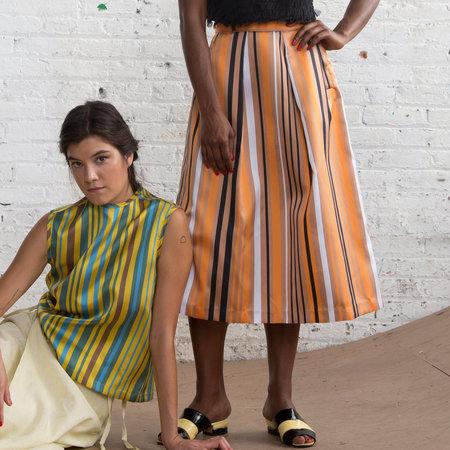 Nikki Chasin Chase Midi Skirt - Orange Stripe