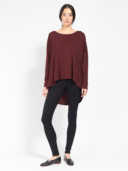 Kowtow Building Block Drape Top Burgundy