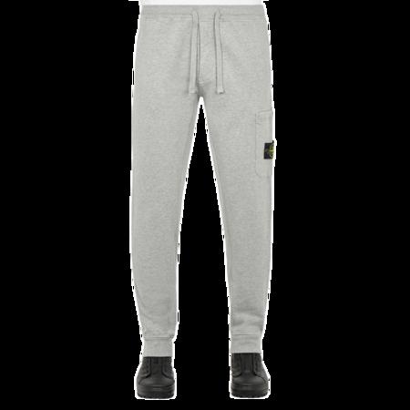 Stone Island Brushed Cotton Fleece Pants - Grey