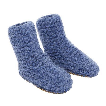 Kids Bonton Baby Knit Booties - Blue