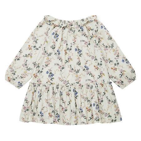 Kids Bonton Child Daria Dress - Wallpaper Cream Floral Print