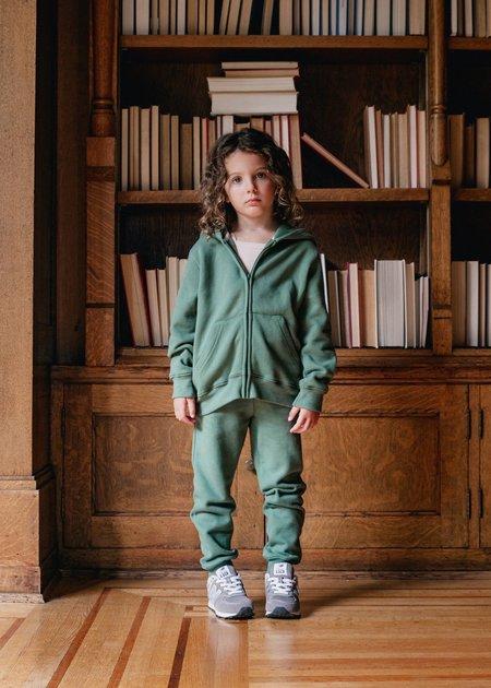 Kids Petits Vilains Félice Classic Zip-Up Hoodie - Clover