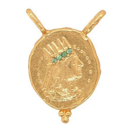 Cleopatra's Bling Regent Pendant with Tsavorite - Gold