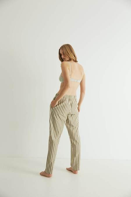 UNISEX General Sleep Everyone Trouser - Khaki Stripe