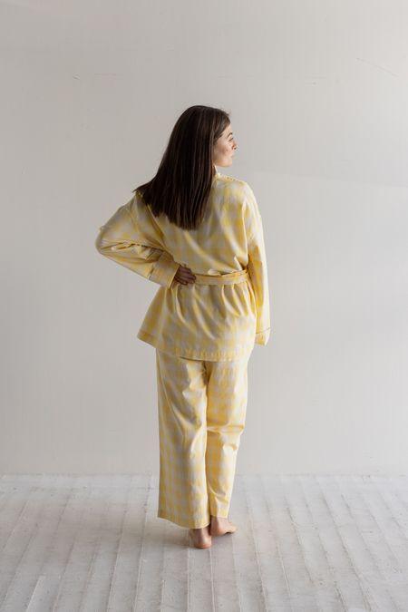 General Sleep Wrap Set - Yuzu Gingham