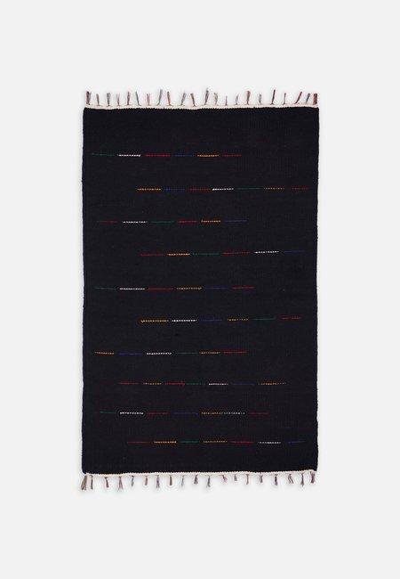 Folkdays x El Puente handmade carpet - black