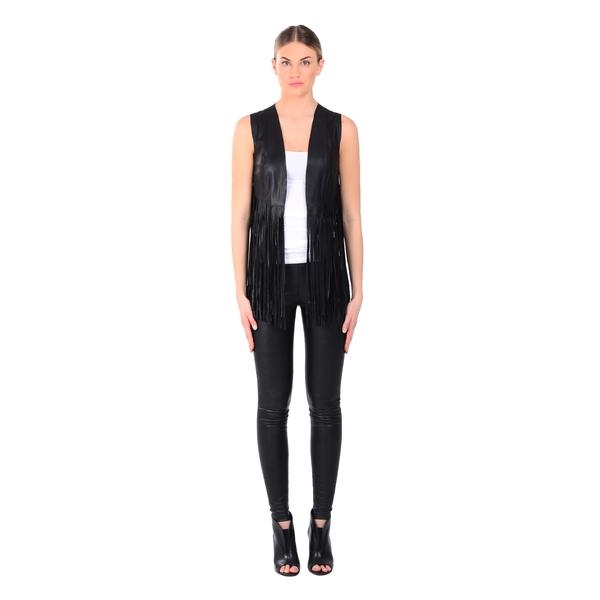 LAMARQUE Sonia Fringe Leather Vest