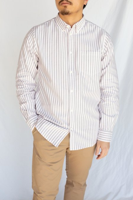 Norse Projects Anton Oxford TOP - Navy Multi Stripe