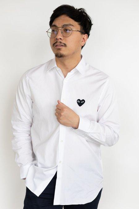 Comme des Garçons Black Heart Play Shirt - White