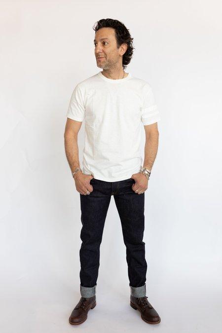 Momotaro Jeans Cotton Tee - Battle Stripes